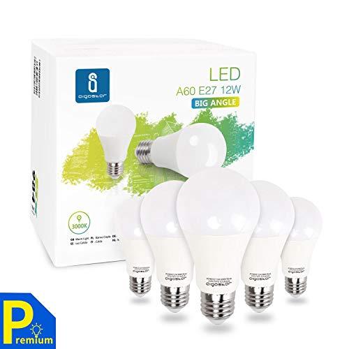 5 Bombilla LED E27, 12W equivalente a 100W