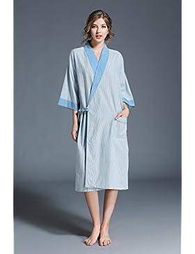 ALJL Kimono del Traje de Algodón Suelta Batas de Algodón Amantes Ocasionales del Traje de Baño de Gran Tamaño...