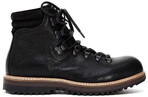 AMPHIBIEN CAF Noir Homme QD201 Chaussures en Cuir Noir