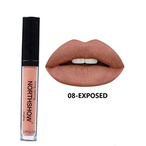 ESAILQ 2017 Neu 8g Flüssige Lippenstift Feuchtigkeitscreme Samt Lippenstift Kosmetik Schönheit Make up 24 Farbe (H)