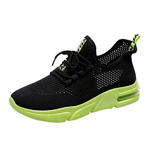 Shoes Fashion Lightweight Running Mesh Lace-Up Casual Breathable Walking Shoes ()