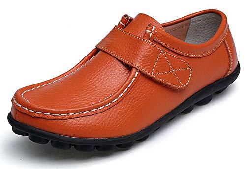 Yooeen Zapatos Mocasines Cómodos para Mujer Calzado de Trabajo Antideslizante Loafers Zapatos de Conducción...