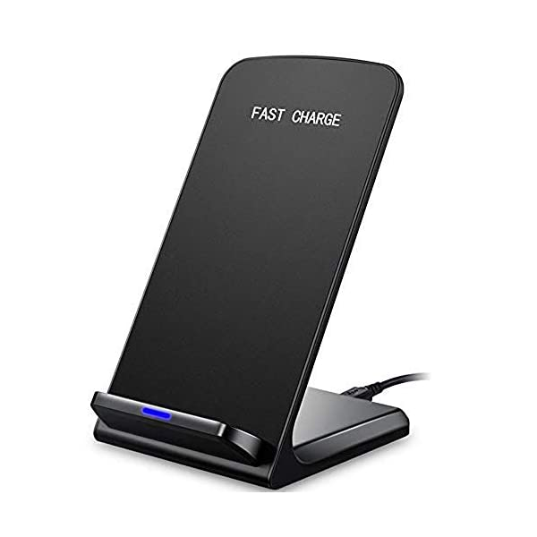 10W/7.5W/5W Fast Wireless Charger Stand for Samsung Galaxy S10/S10+/S10e/S9/ S8 /S8+/ S7 /S7 Edge Note 9/8 Qi Certified Charging Dock for iPhone X/XS Max/XR/XS/8/8+/Huawei Mate 20 Pro/P30 Pro 412cmqTMtLL