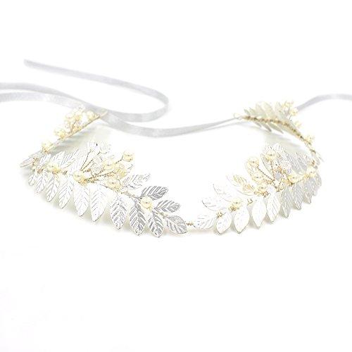 Griechisch Silber Blatt Stirnband Tiara oumoutm römischen Brautschmuck Krone Haar Zubehör