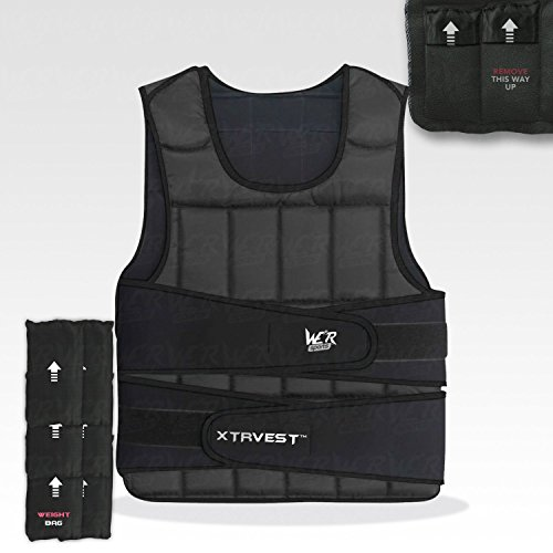We-R-Sports-XTR-Weight-Vest-510152030-Adjustable-Weighted-Vest-Loss-Running-Gym-Training