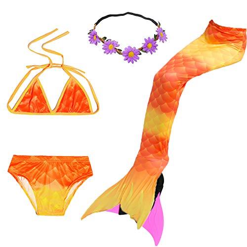 COZY HUT Mädchen Bikini Badeanzüge Schönere Meerjungfrauenschwanz zum Schwimmen mit Meerjungfrau Flosse Schwimmen Kostüm Schwanzflosse