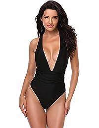 5ba8707ea4317 Fitibest Bañador Traje de Baño Bikini Traje de Baño de Una Pieza Para Mujer