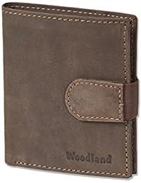 Woodland - billetera Super-compacto con XXL tarjeteros para 18 tarjetas hechas de aficionados no tratados