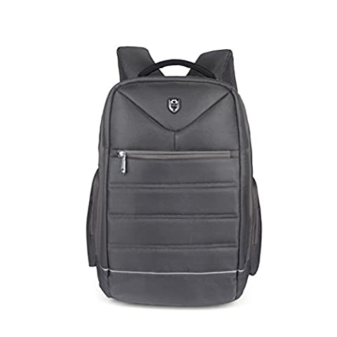 AiQi New Style Business Travel College Laptop Backpack Bag Students School Shoulder Backpacks,Unique Design of Creative Wave Bubble Foam Padded Laptop Sleeve,Aluminium Handle and Various Pockets for Phone,Wallet,Adapter and Other Accessories,Ultra Protective for Upto 15.6 Inch Macbook Air / Macbook Pro / Laptop / Notebook / Tablet PC / iPad