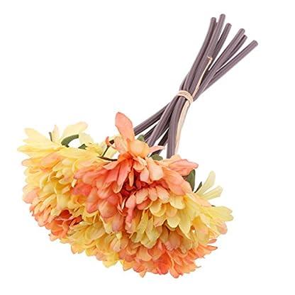 MagiDeal 7pcs Flores de Crisantemo Artificial Rama de Flores para Decoración de Boda de Fiesta de Cumpleaños de Hogar Vibrante de Color