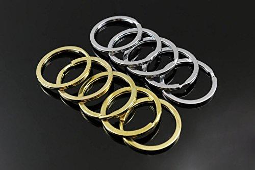 nge flach Ø 28/30/32/33/35 mm ohne Kette Ringe Ring Öse, SR-15, 32 mm / 3, 2 cm, Silberfarben, 5 Stück ()