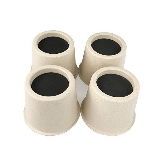 rehausseurs de Lit en Fibre de Bambou pour Twin/Queen Size, Meubles Chaise Table rehausseurs, rehausseurs de Lit, Lot DE 4 Pièces