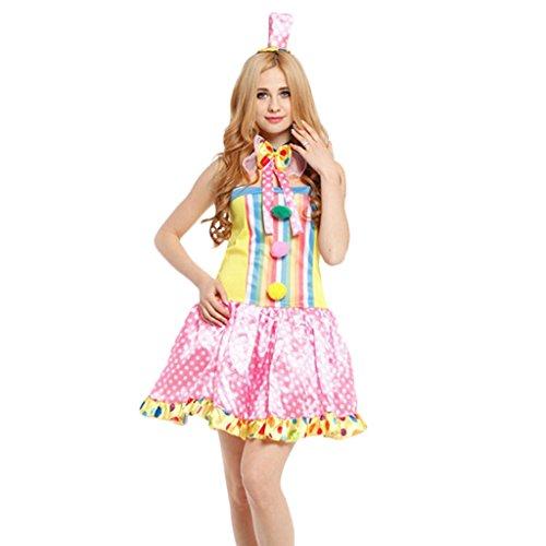 �die Zirkusclown Kostüm Frau Kleid Halloween Xmas Kostüm ()