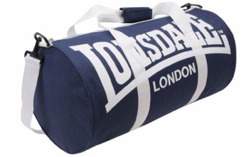 [UK-Import]Lonsdale Barrel Bag Navy & White