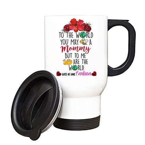 Portafoglio personalizzabile per la festa della mamma con scritta in lingua inglese