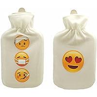 2er SET EMOJI Wärmflasche LOVE + KRANK Emojis Liebe Herz Erkältung 2 Liter preisvergleich bei billige-tabletten.eu
