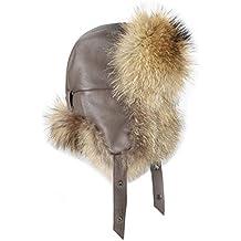 Hombre Mapache Gorro Pelo – Gorro de Trapper – Gorro de Aviador Invierno  Gorro Gorro de 43631966757