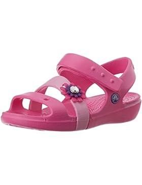 Crocs Keeley Petal Sandal - Tira de Tobillo de Material sintético Niña