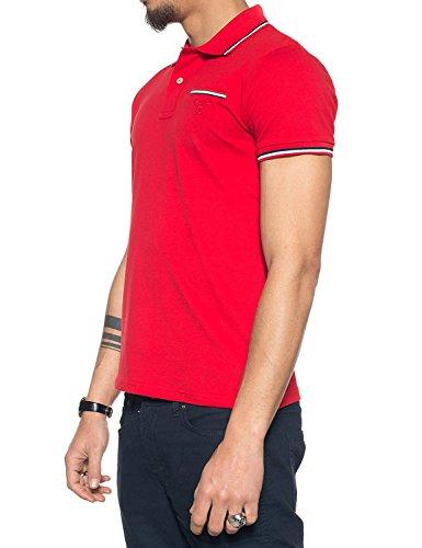 GANT Herren Poloshirt 3-Col Tipping Pique Ss Rugger 620 Bright Red