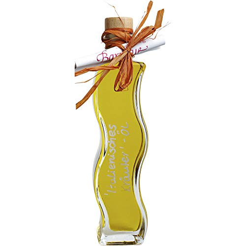 Öl Ital.Kräuter Würz-Öl Welle Olive-Kräuter Würzöl vegan BARRIQUE-Handabfüllungen Essig und Öl Deutschland 200ml-Fl Olive Wellen