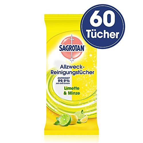 Sagrotan Allzweck-Reinigungstücher Limette und Minze