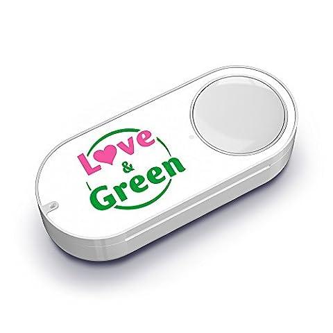 Love & Green Dash Button