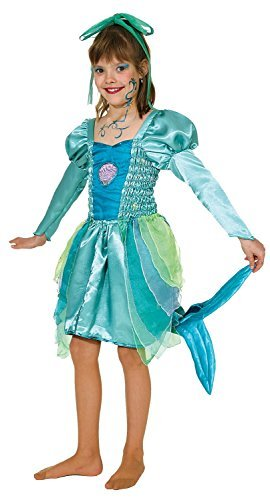 Fancy Me Mädchen Muschel Meerjungfrau Prinzessin unter dem Meer Welttag des buches-Tage-Woche Kostüm Kleid Outfit 2-12 Jahre - Blau, 2-3 Years (104cm) (Kostüme Für Unter Dem Meer)