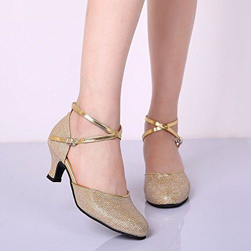 DGSA Latin Dance Schuh Mädchen mit Square Dance Schuhe mit weichen, Modernes mit Sommer Mit außen Gummi