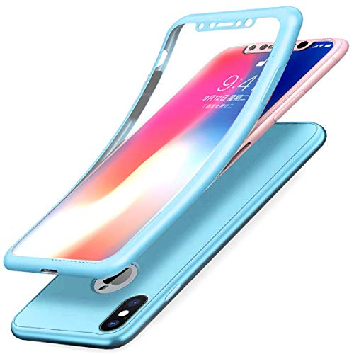 JAWSEU 360 Grados Funda Compatible iPhone