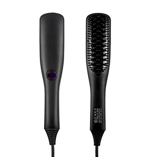 Cepillo alisador de pelo, iBeauTek 2 en 1 ionic Electric Cepillo de pelo mojado y seco estilo con dientes...