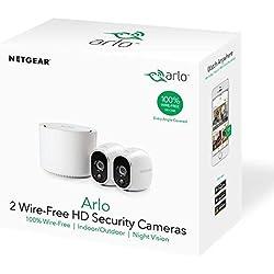 Arlo HD Smart Home 2 HD Système de Sécurité pour Caméra de Surveillance (Sans fil, Intérieur/Extérieur, Capteur de Mouvement, Vision Nocturne), Blanc, VMS3230-100EUS