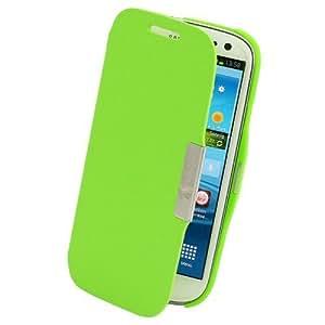 Grün Flip Tasche für Samsung Galaxy S3 i9300 i9305 Schutzhülle Hülle Schale Handytasche Cover Schutzschale Etui Case Green