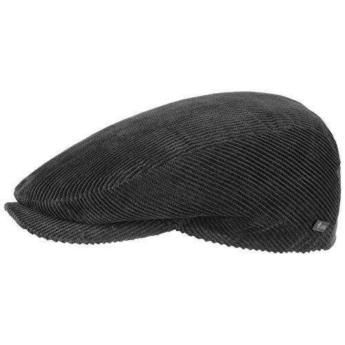 Lipodo Gorra Gatsby Cordial Algodón | Negro | Talla S 54-55 cm | Gorra de pana de hombre con forro acolchado para invierno | gorra deportiva