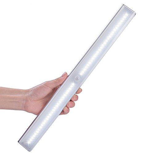 LOFTER 56 LED de Luz Inalámbrica con Sensor de Movimiento,Batería Recargable 2250mAh, Luz con 2 Tiras Magnéticas y USB Cable de Carga, Luz Blanca