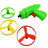 Cooplay 1 Set Plastic Space Game Toy Gun Spin Flying Saucer Shooter Model Kit Children Kids Christmas Gift ---- Randomly Color - Cooplay - amazon.co.uk