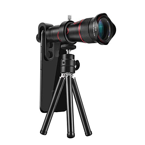 RSGK Smartphone Objektiv, 22x Zoom Objektiv für iPhone XS Max XR X 8 7 Plus für Samsung Galaxy, Android Smartphone Objektiv mit Stativ
