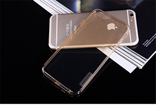 iPhone 6 / iPhone 6S Case + Screen Protector, Nillkin Crystal Clear [Anti-Slip Design] [Integrated Dust Plug] Soft Flexible Extremely Thin Gel TPU Transparent Skin Ultra Slim Rubber Back Cover (Brown) Brown