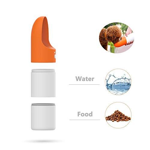 HQYXGS Haustier Wasserflasche Portable Durable Double Layer Auslaufsicher gegen Extrusion Lebensmittelbehälter