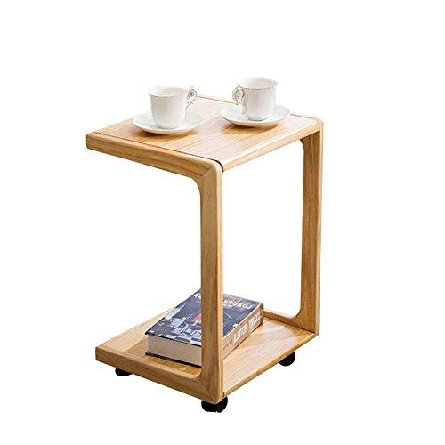 CZZ Beweglicher Kleiner Couchtisch Flaschenzug, Nachttisch, Einfaches Mini-Sofa, Beistelltisch Aus Massivholz, 3 Farben,A,Tabelle -