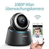 Sicher zu Hause 1080P HD WLAN WiFi IP Kamera Haustier Sicherheitskamera Überwachungskamera IP Cam Kabellos P2P Schwenkbar Bewegungsmelder 2 Weg Audio IR Nachtsicht für Babyphone Indoor (1080P)