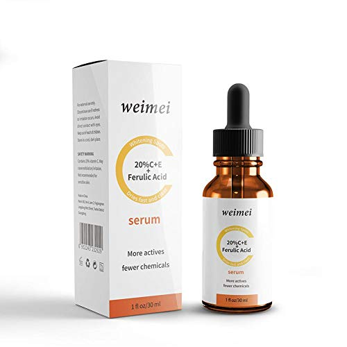 20% Vitamin C+E Ferulic Acid Serum Anti-aging Anti-Wrinkle Moisturizing Brightening Skin Firming Essence Facial Moisturizer with Vit E & Ferulic Acid Skin Care Serum