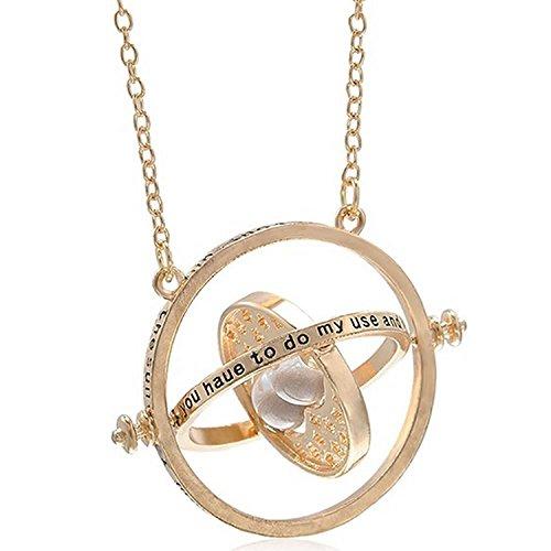 Zeitumkehrer-Kette-Hermine-Anhnger-Sanduhr-Gold-Vepackt-in-einer-netten-Geschenkbox
