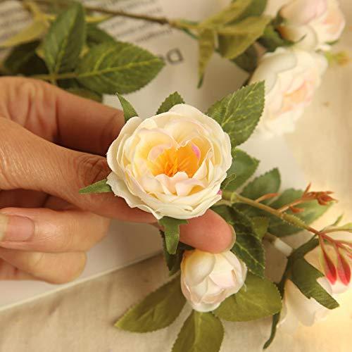 (Gaddrt Künstliche Pfingstrose Blume für Hochzeit Party Decor gefälschte Blumen Brautstrauß für Zuhause/Hochzeitsdekoration (Beige))