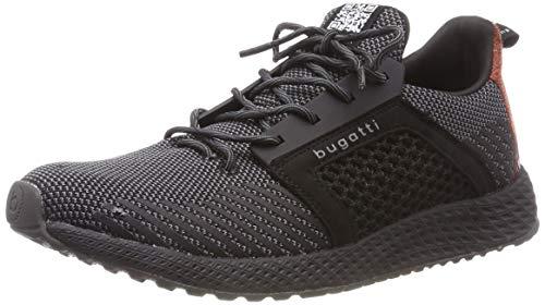 bugatti Herren 341623626900 Slip On Sneaker, Schwarz, 44 EU