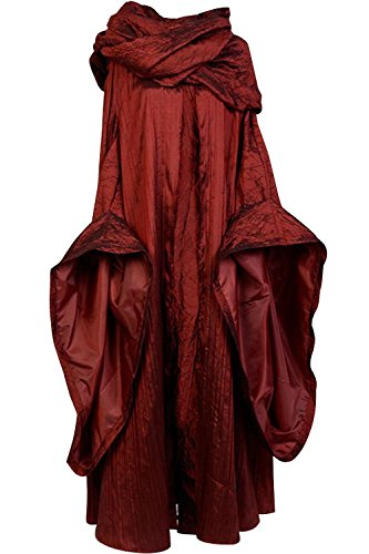 Sidor GoT Game of Thrones The Red Woman Melisandre Cosplay Kostüm Outfit Anzug Kleid - Rot - (Game Of Thrones Weibliche Kostüm)