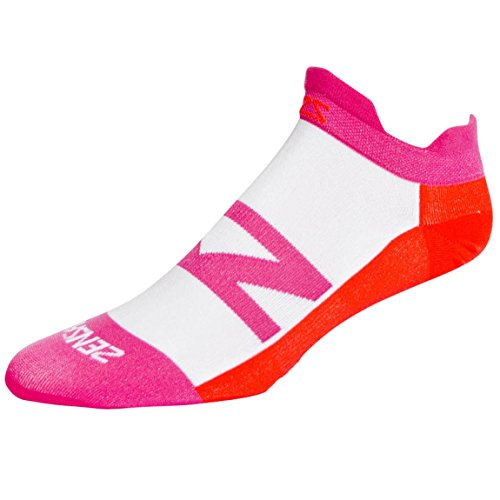Zensah Laufsocken Invisi, Hot Pink/Neon Orange, L, 020392 (Socken Zensah Kompressions)