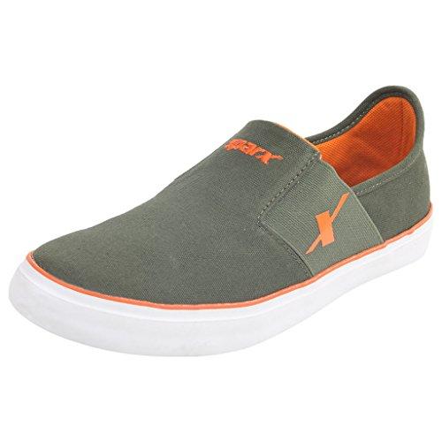 SPARX Olive-Orange Sneaker's Size-7 (SM214)