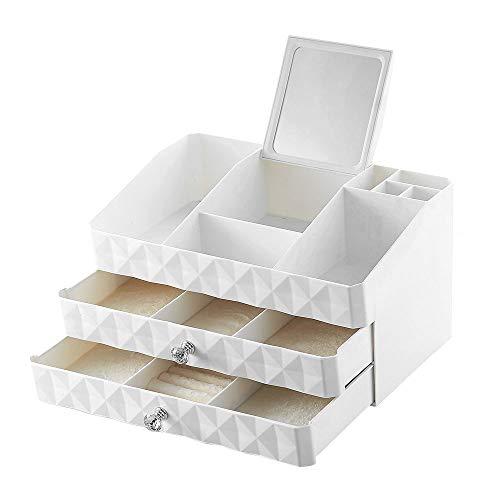 Bequem Kosmetik Make Up Organiser Mit 3 Schubladen Für Bad Aufbewahrung Schlafzimmer Lippenstift Schmuck Nagellack Nähgarn Weiß -