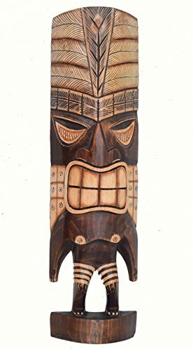 Tiki-Figura-50cm-de-madera-Tiki-Dios-HAWAI-Escultura-Isla-De-Pascua