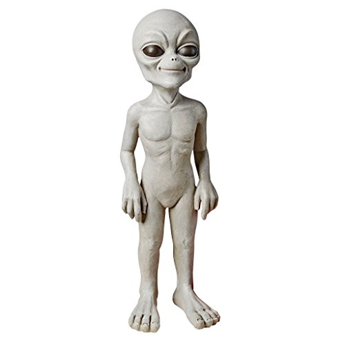 Design Toscano Halloween Die out-of-this-world Alien Extra Terrestrial Statue, Stein, gebrochenes Weiß, klein